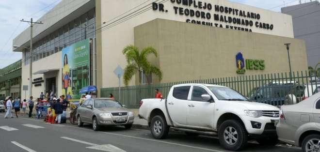 Más de 120 pacientes hicieron el reclamo en el hospital Teodoro Maldonado Carbo. Foto: Archivo