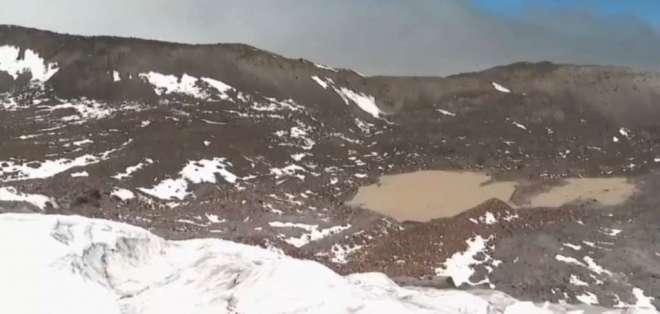 El papel del glaciar es vital para el suministro de agua en Quito. Foto: Captura de video