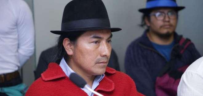 QUITO, Ecuador.- Leonidas Iza compareció ante la comisión legislativa que investiga los hechos durante el paro. Foto: Asamblea