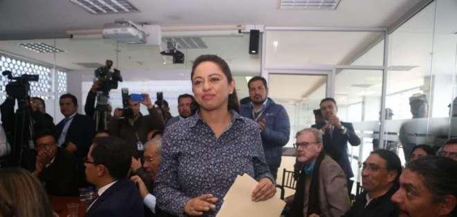 QUITO, Ecuador.- Pabón compareció este lunes ante una comisión legislativa. Foto: API