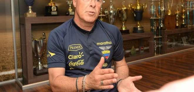 Jorge Célico, DT interino de Ecuador.