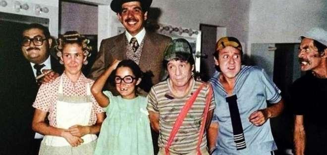 "Comparten inédita foto del elenco de ""El Chavo""."