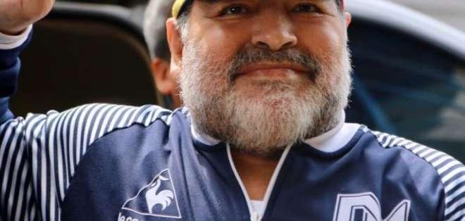 Diego Maradona, exjugador argentino. FOTO: @gimnasiaoficial