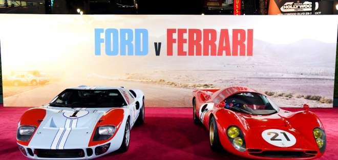 Filme ambientado en 1966, de la escudería Ford y Ferrari. Foto. KEVIN WINTER / GETTY IMAGES NORTH AMERICA / AFP