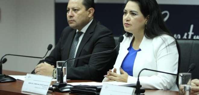 María del Carmen Maldonado, presidenta del Consejo de la Judicatura. Foto: Twitter Judicatura