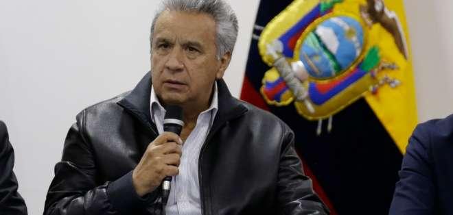 El presidente de Ecuador habló en cadena nacional donde recordó los hechos de violencia que hubo en las protestas. Foto: Archivo