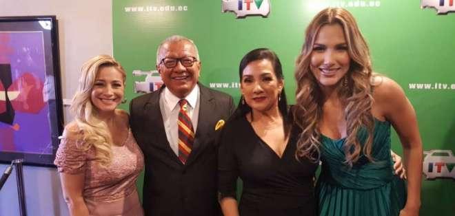 GUAYAQUIL, Ecuador.- Marián Sabaté, Carlos Víctor Morales, Tania Tinoco y Alejandra Jaramillo. Foto: Ecuavisa