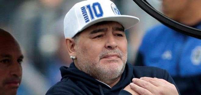 Maradona, DT de Gimnasia.