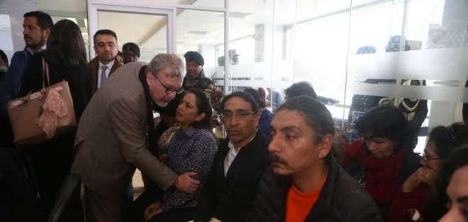 QUITO, Ecuador.- Pabón, Hernández y González son procesados por el presunto delito de rebelión. Foto: API (archivo)