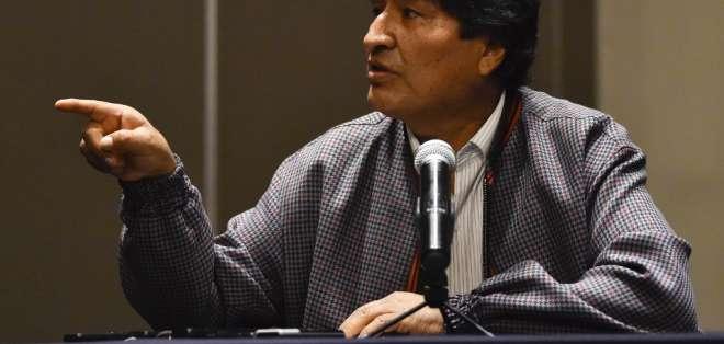 Fiscalía abrió indagación contra Evo Morales (foto) tras denuncia de ministro de Gobierno, Arturo Murillo. Foto: Archivo