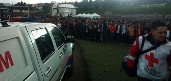 QUITO, Ecuador.- El evento artístico quedó suspendido tras la tragedia. Foto: ECU 911