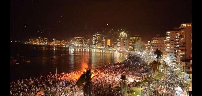 El festejo de fin de año en Salinas en una de los más atractivos del país. Foto: Captura de video