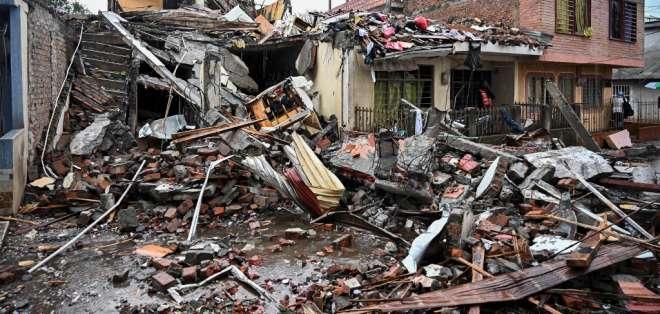 Tres policías muertos en atentado en Colombia. Foto: AFP