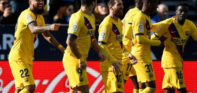 El FC Barcelona venció 2-1 al Leganés tras comenzar abajo en el marcador. Foto: PIERRE-PHILIPPE MARCOU / AFP