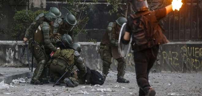 Ley para que militares protejan infraestructura pública en Chile. Foto: AFP