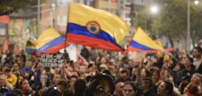 Los sujetos fueron acusados de generar saqueos y violencia en la capital colombiana. Foto: AFP