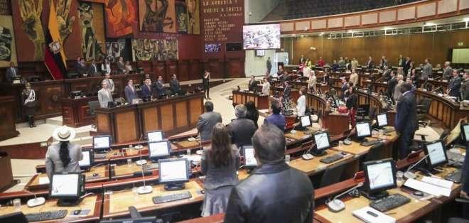 Este viernes terminó el primer debate del proyecto enviado por el Ejecutivo de Moreno. Foto: Asamblea