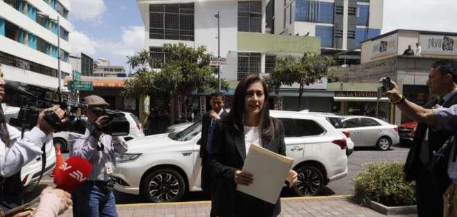 Johanna Pesantes presenta denuncia contra José Carlos Tuárez. Foto: API