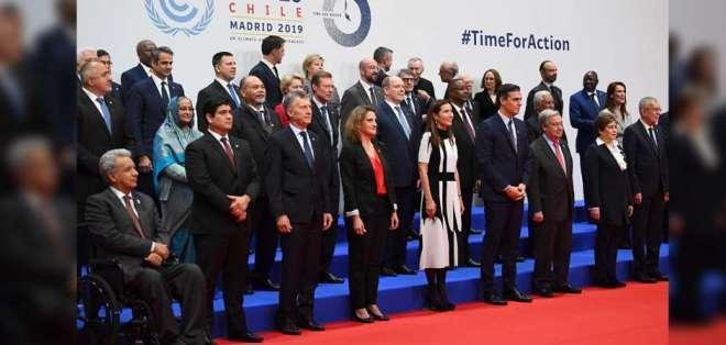 El presidente de Ecuador, Lenín Moreno, asiste a cumbre mundial de la ONU sobre el clima en Madrid. Foto: AFP
