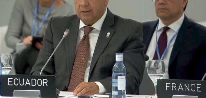 Moreno ratificó el compromiso de Ecuador con la convención de la ONU sobre cambio climático y el Acuerdo de París. Foto: Captura
