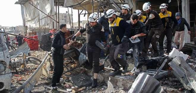 La mayoría de las muertes se dieron en la provincia de Idlib. Foto: Abdulaziz KETAZ / AFP