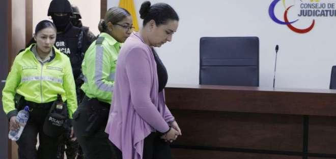 Se realiza la audiencia de formulación de cargos por lavado de activos en contra de María Sol Larrea. Foto: API