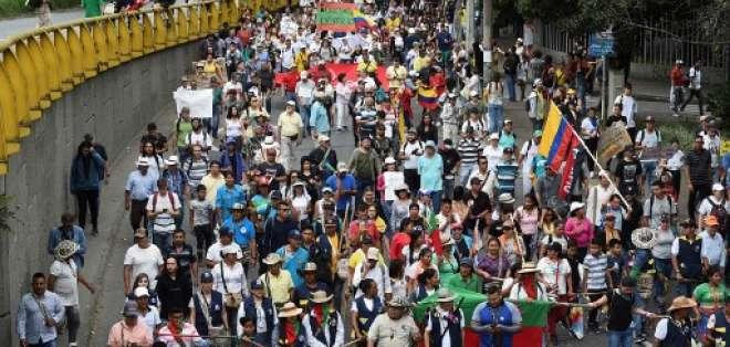 La jornada transcurrió de manera pacífica en la mayoría de ciudades. Foto: JOAQUIN SARMIENTO / AFP