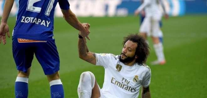 Marcelo en una partido del Madrid.