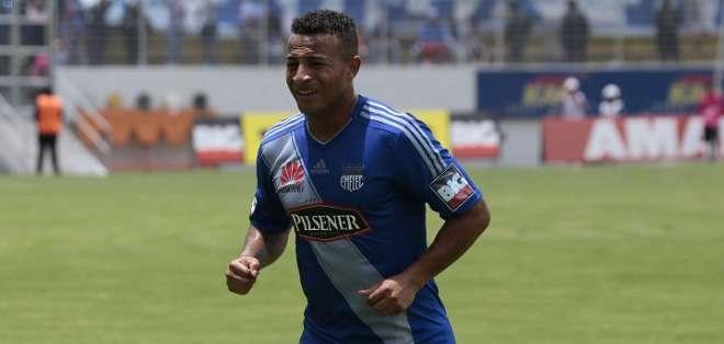 Pedro Quiñónez en un partido con Emelec. Foto: API.