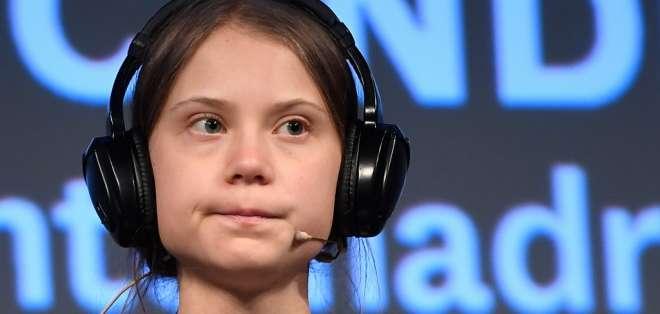 La activista de 16 años fue convertida en símbolo de la lucha por la defensa del planeta. Foto: AFP