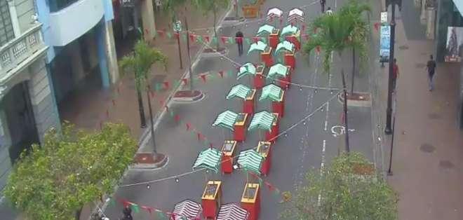 Restricción vehicular comprende zona entre Boyacá hasta Pedro Carbo. Foto: Twitter ATM