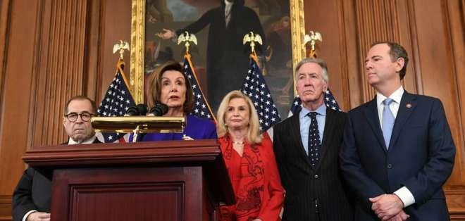Los demócratas anunciaron este martes que imputarán al presidente Donald Trump. Foto: AFP