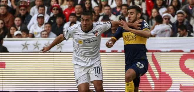 Andrés Chicaiza fue expulsado en la final de ida pese a ingresar en el minuto 79. Foto: Archivo