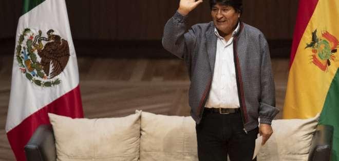 Morales dimitió el 10 de noviembre y se exilió en México. Foto: PEDRO PARDO / AFP