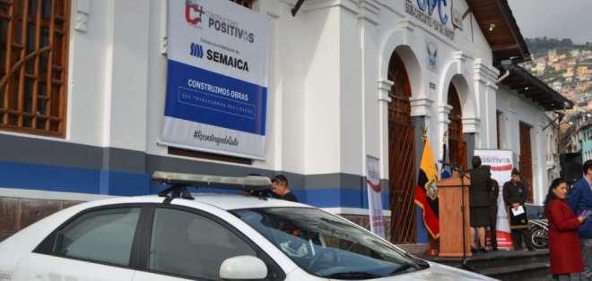 Rehabilitan UPC en Quito, destruida en protestas de octubre. Foto: Policía Nacional