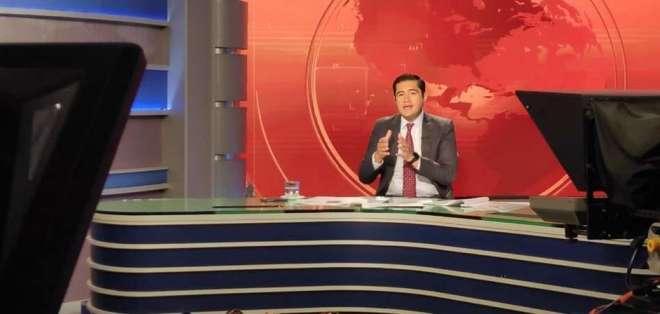 El ministro Richard Martínez durante una entrevista en Contacto Directo, el 12 de diciembre. Foto: Min. de Economía y Finanzas