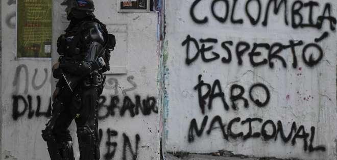 Las manifestaciones en Colombia comenzaron el pasado 21 de noviembre. Foto: JUAN BARRETO / AFP