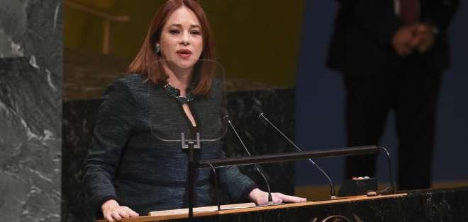 Espinosa, de 55 años, fue presidenta de la Asamblea General de las Naciones Unidas. Foto: AFP