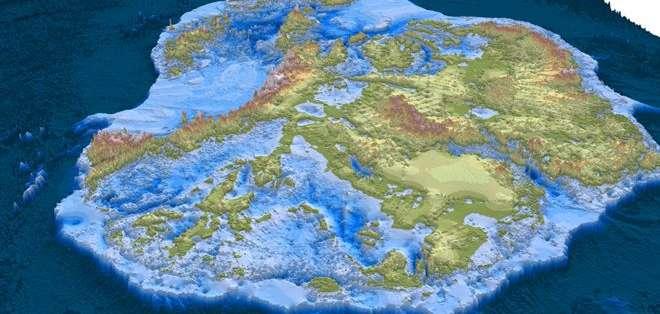 El nuevo mapa es la ilustración más detallada hasta ahora de la Antártica.