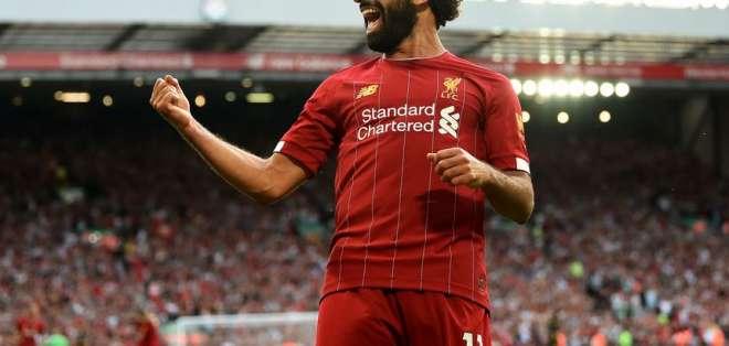 Mohamed Salah llegó a 9 goles en la presente Premier League. Foto: Archivo.