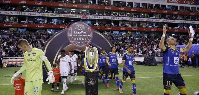 Liga de Quito y Delfín empataron 0-0 en la final de ida de la Liga Profesional de Fútbol.
