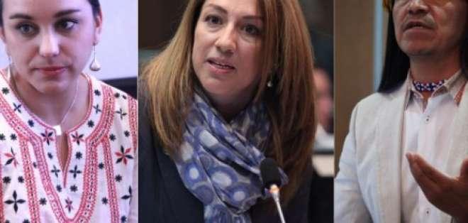 Gabriela Rivadeneira, Soledad Buendía, Carlos Viteri. Foto: Vistazo - Collage