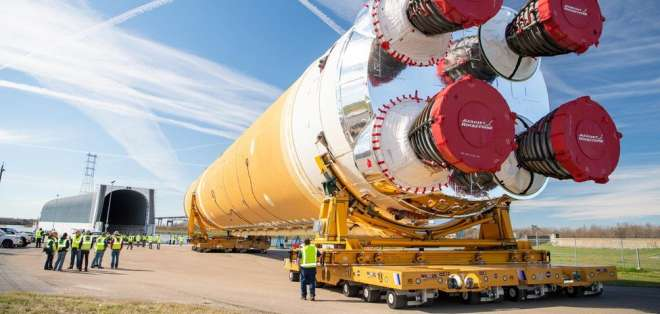 El cohete de EE.UU. para volver a mandar humanos a la Luna. Foto: Nasa
