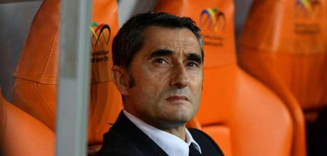 Ernesto Valverde, DT del Barcelona de España.