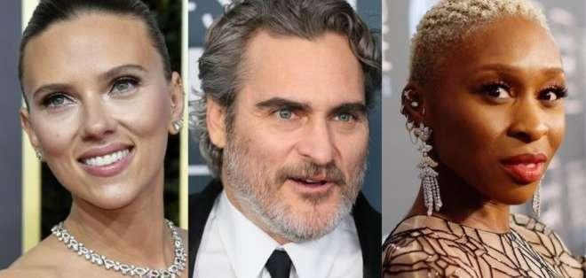 Scarlett Johansson, Joaquin Phoenix y Cynthia Erivo son algunos de los nominados. Foto: GETTY IMAGES