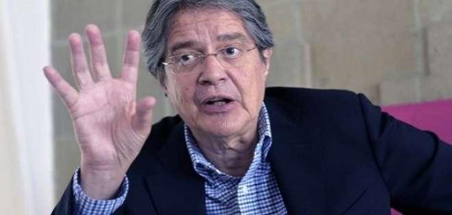 Guillermo Lasso:  Ecuador necesita un gobierno que no haya nacido de las entrañas del correísmo'. Foto: AFP - Archivo