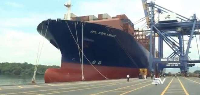 La embarcación entró a Ecuador a través del Puerto de Guayaquil. Foto: Captura de pantalla