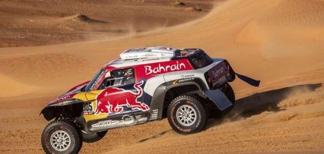 Carlos Sainz durante una prueba del rally. Foto: Radio Marca.