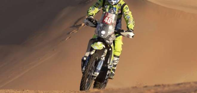 Edwin Straver en una etapa del Dakar. Foto: Twitter El Portal.