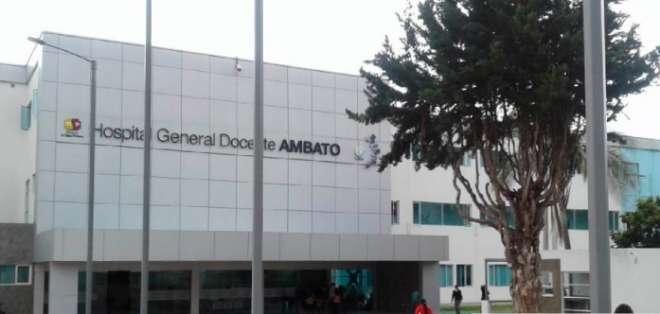 La menor fue llevada al Hospital Regional Docente de Ambato.